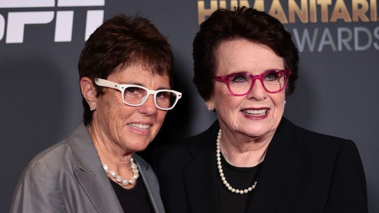 Billie Jean King and Ilana Kloss attend the 2021 Sports Humanitarian Awards on July 12, 2021 in New York City.