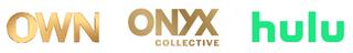 OWN, Onyx, Hulu logos