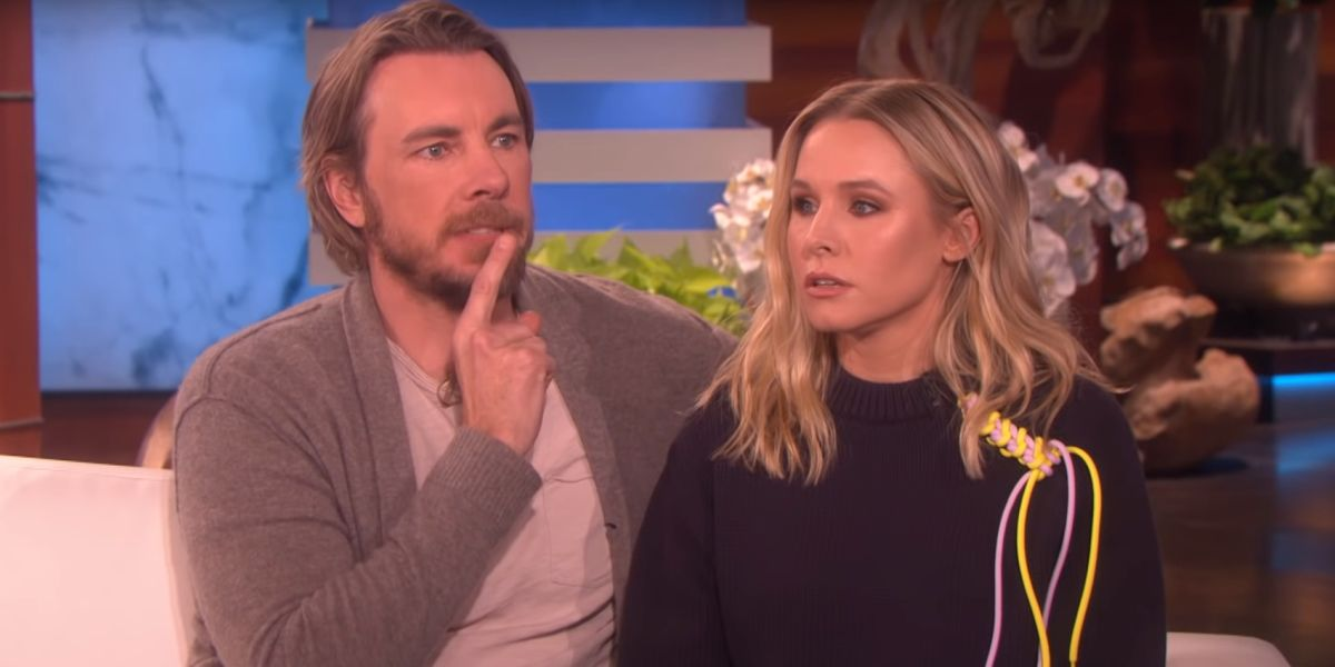 Dax Shepard and Kristen Bell appearing on Ellen