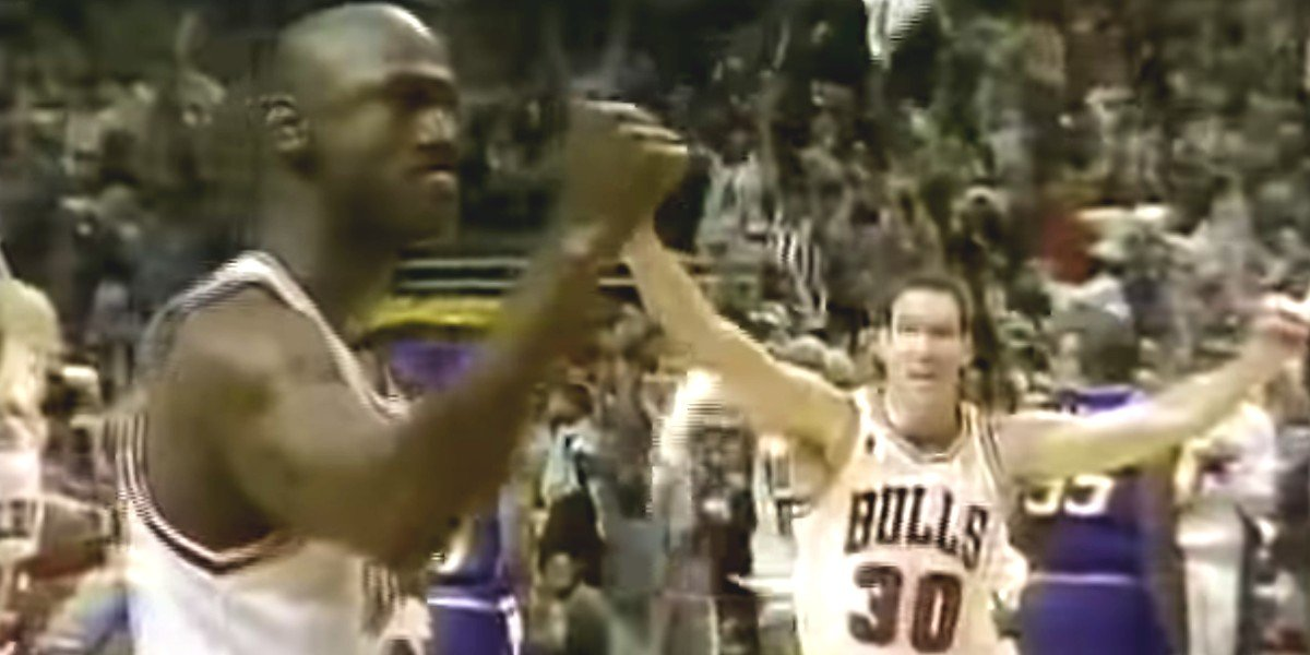 Michael Jordan during the 1997 NBA Playoffs