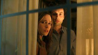 Victoria Pedretti and Penn Badgley star in You season 3 on Netflix