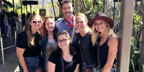adam Levine Selfie on Jurassic Park Ride