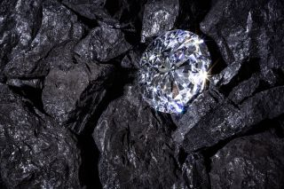diamond in a pile of coal