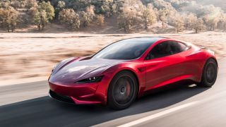 Tesla Roadster in action