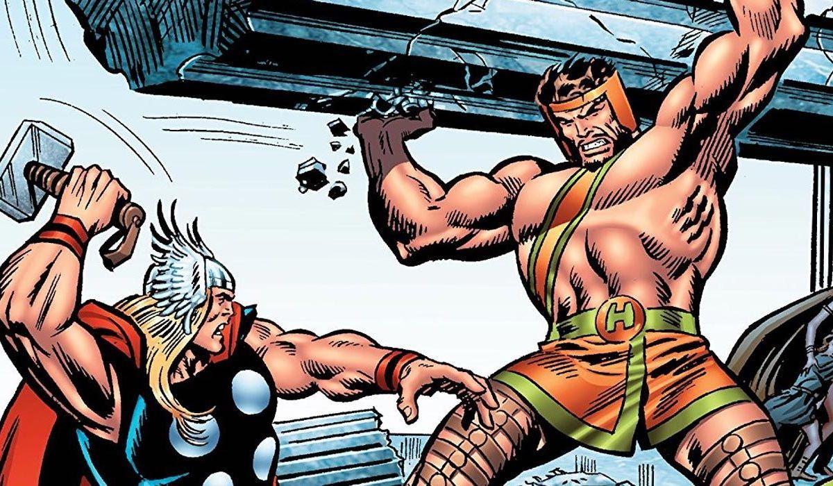 Thor fighting Hercules Marvel Comics