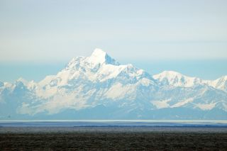 Malaspina glacier and Mt. St. Elias, Alaska