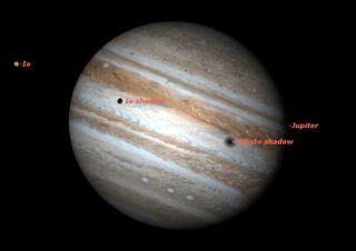 See Moon Shadows on Jupiter