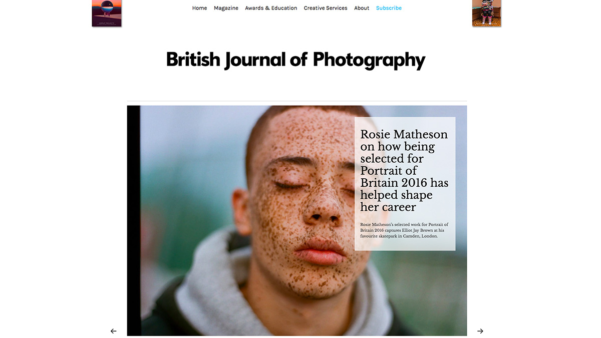 British Journal of Photography website screenshot