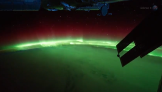 northern lights astronauts space station