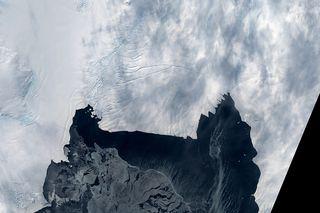 Pine Island Glacier Rift from Landsat