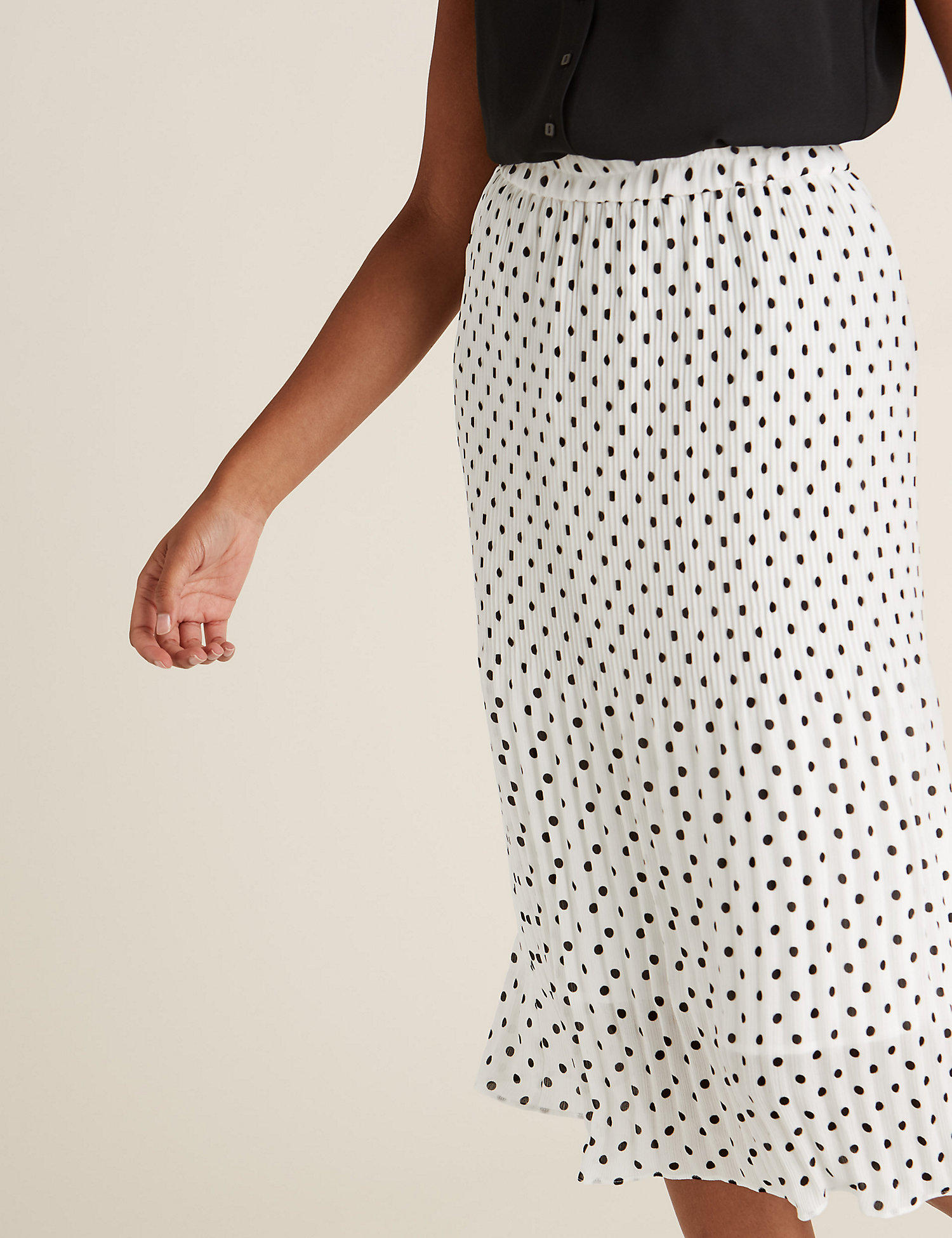 Marks & Spencer is selling a gorgeous polka dot midi skirt and we predict a sell-out