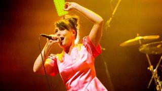 Kathleen Hanna onstage