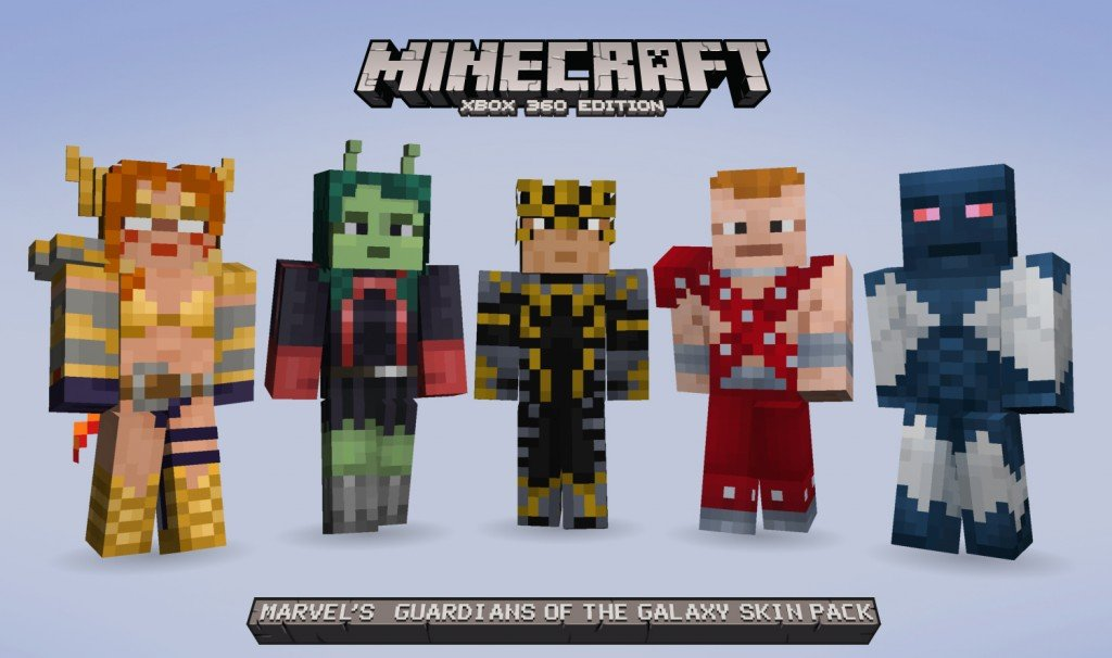 Minecraft Xbox Receives Guardians Of The Galaxy Skin Pack This Week - Skins para minecraft pe jason