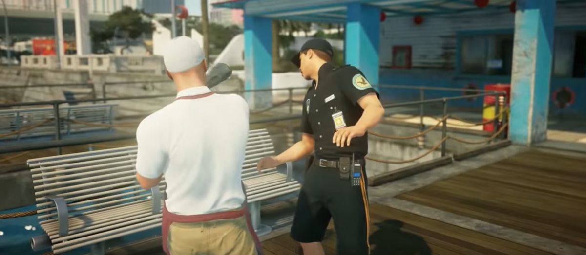 Hitman 2 video shows Agent 47 killing a man with a fish