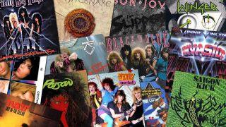 Glam Metal album covers