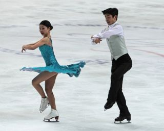 ice skating pair
