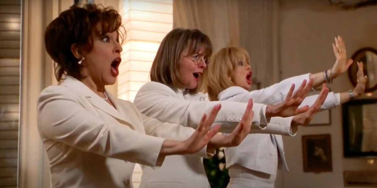 Bette Midler, Diane Keaton, and Goldie Hawn in First Wives Club