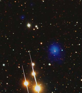 Giant Galaxy Cluster Seen in Early Universe