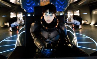 New Image from Valerian and the City of a Thousand Planets with Valerian in a spaceship.