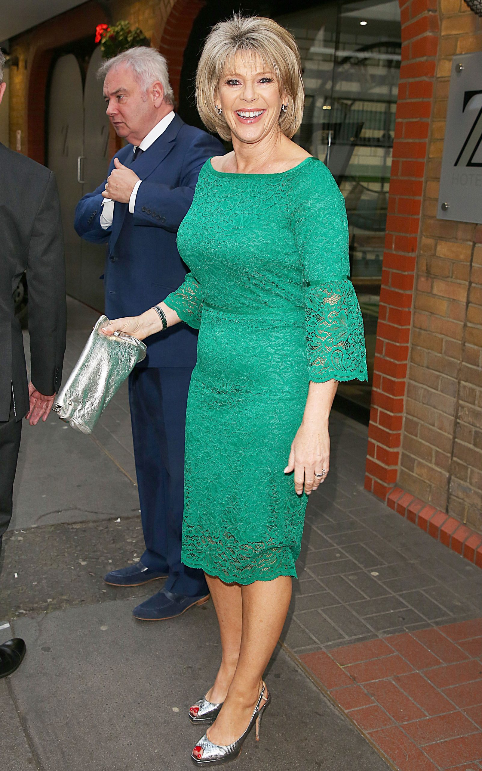 Ruth Langsford Dress Presenter Wears Flattering Lace Design From Qvc Woman Home