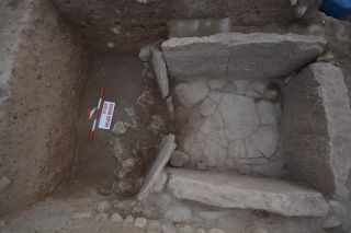 Eight human sacrifices were found at the entrance to this tomb, which held the remains of two 12-year-olds from ancient Mesopotamia.