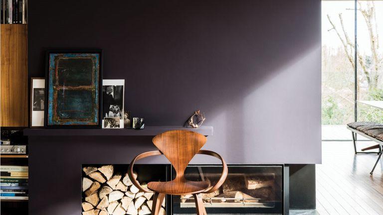 Living room in Paean Black, Farrow & Ball