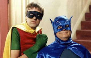 Del and Rodney in Only Fools and Horses dressed as batman and robin