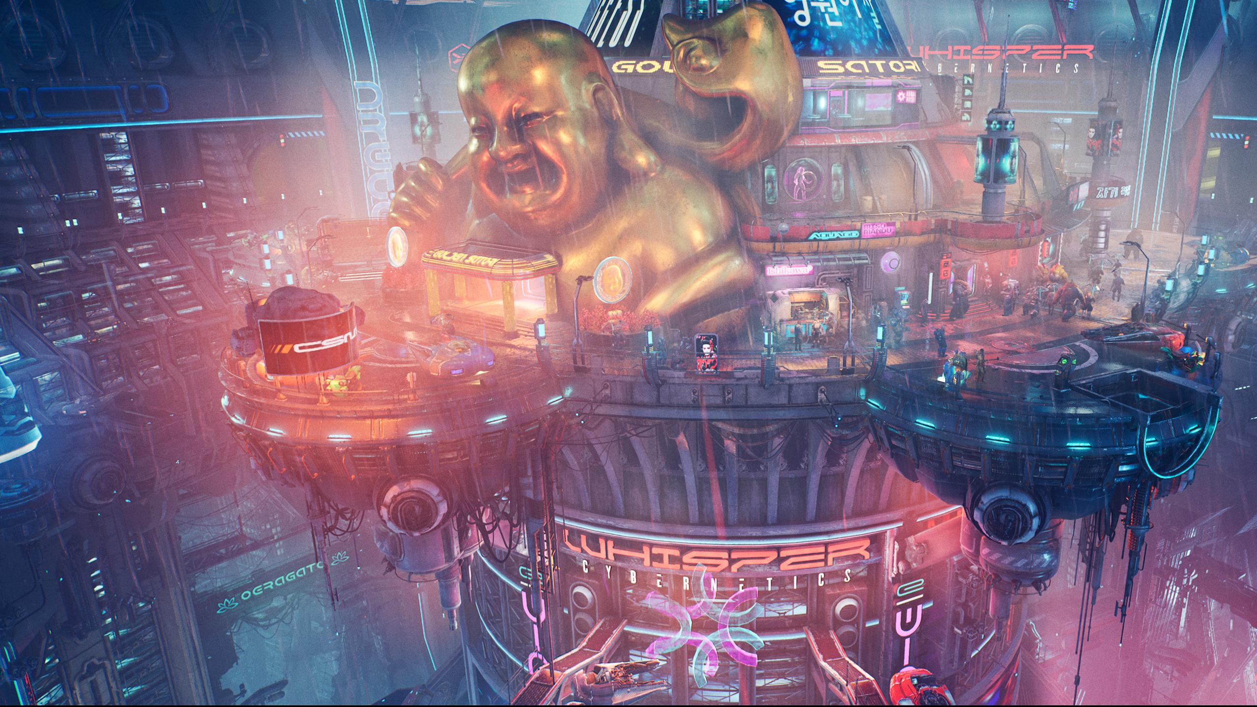 A futuristic casino