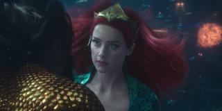 Amber Heard as Mera in Aquaman's final battle