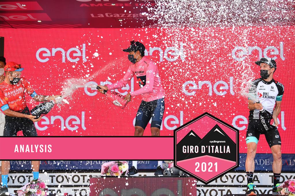 The final 2021 Giro d'Italia podium