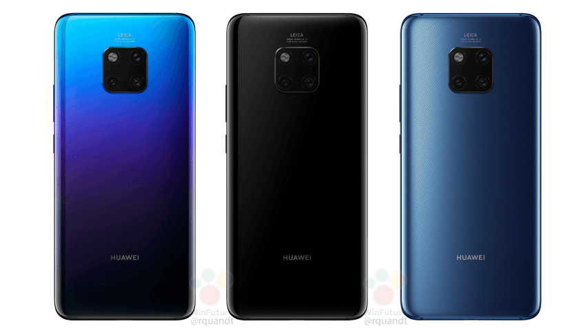 Huawei Mate 20 Pro launches today: huge leak shows off a three-camera Leica setup