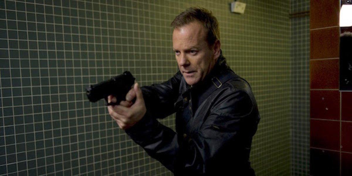 Kiefer Sutherland as jack bauer 24