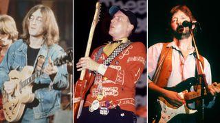 [L-R] John Lennon, Rick Nielsen and Eric Clapton