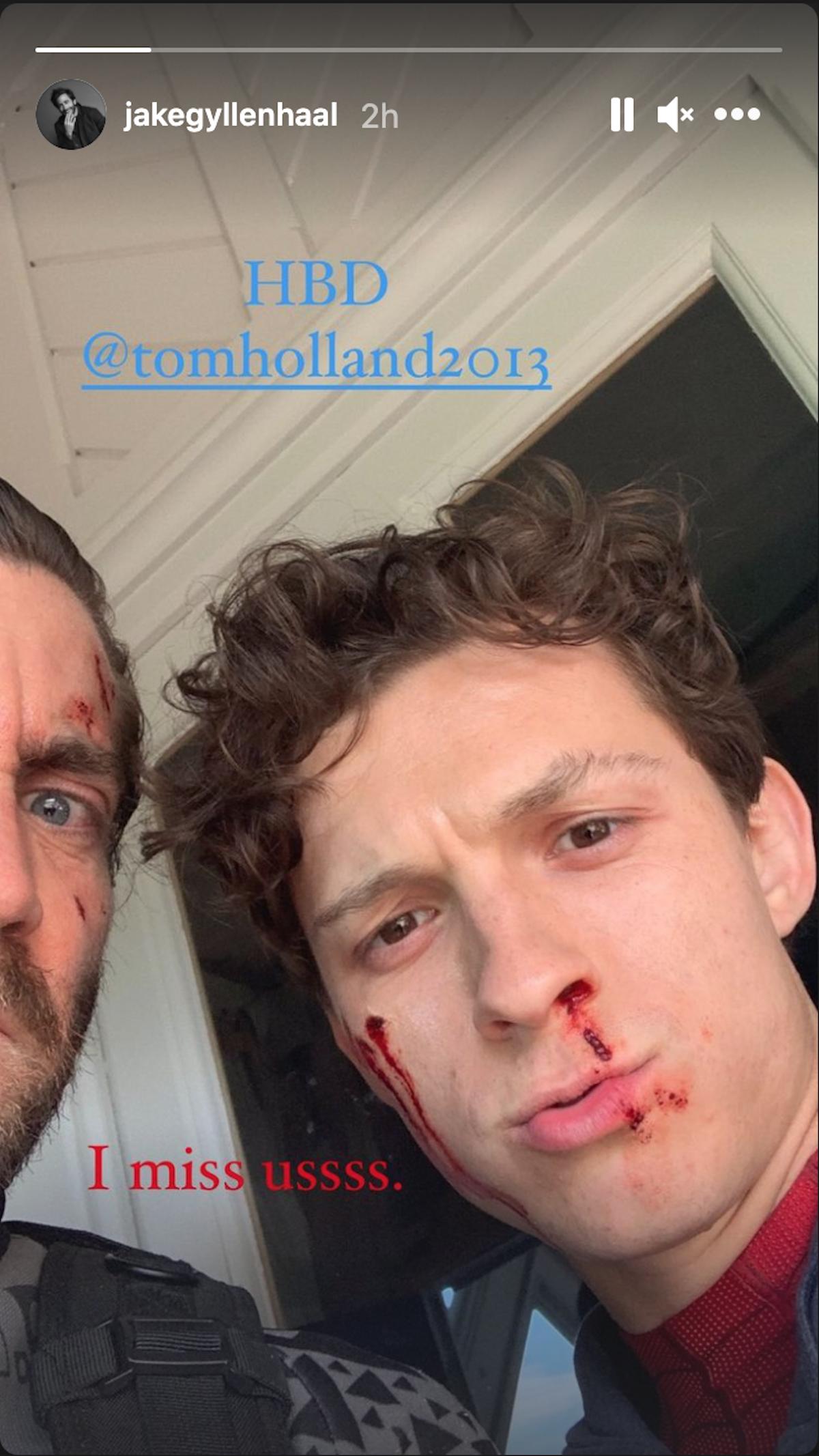 Jake Gyllenhaal and Tom Holland