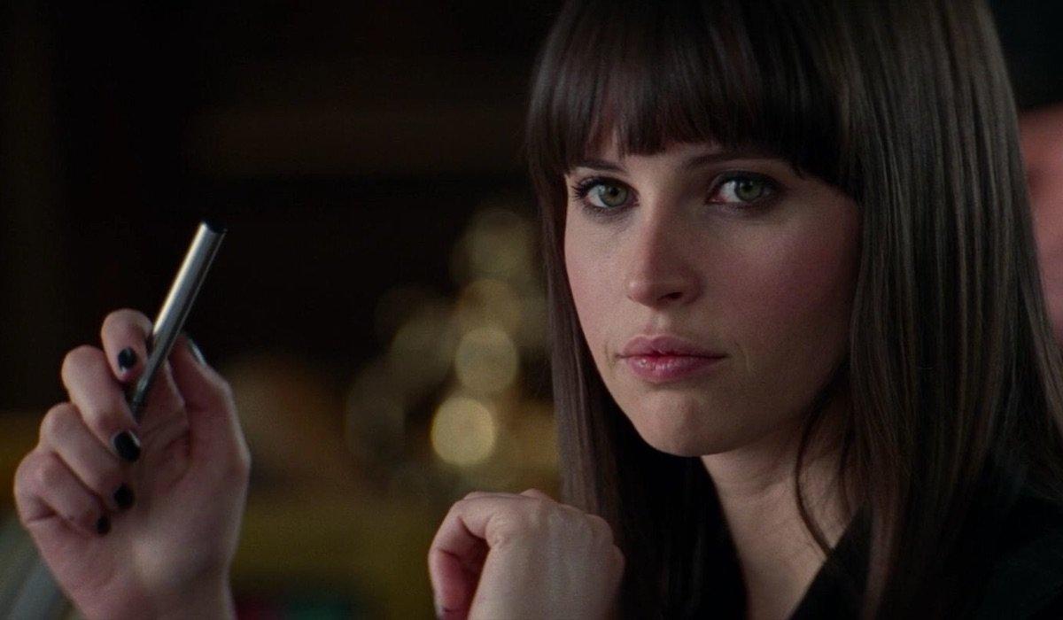 Felicity Jones as Black Cat in Amazing Spider-Man 2