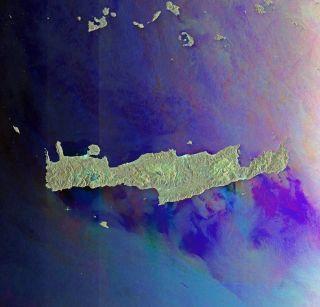 Crete, Aegean Sea, Libyan Sea, eastern Mediterranean, Cyclades island group, Milos, Ios, Anafi and Santorini