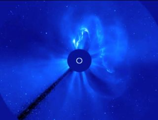 SOHO Captures Earth-Directed CME of Sept. 30, 2013