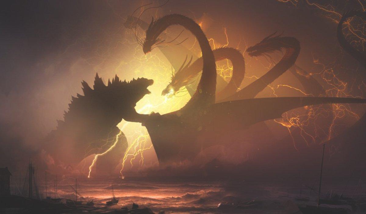Godzilla: King of the Monsters Godzilla grapples with Ghidorah