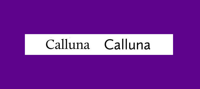 Calluna and Calluna Sans font pairings