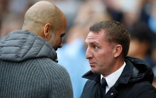 Pep Guardiola and Brendan Rodgers - Leicester v Manchester City live stream, Community Shield