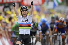 World champion Mark Cavendish (Sky) wins stage 18 of the Tour de France