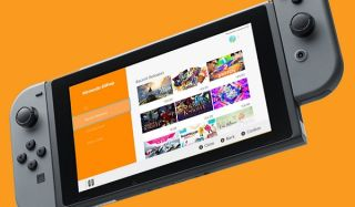 A Nintendo Switch with the eShop displayed
