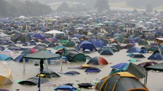 Download Festival 2016 flood? No, this image was actually taken at Glastonbury in 2005