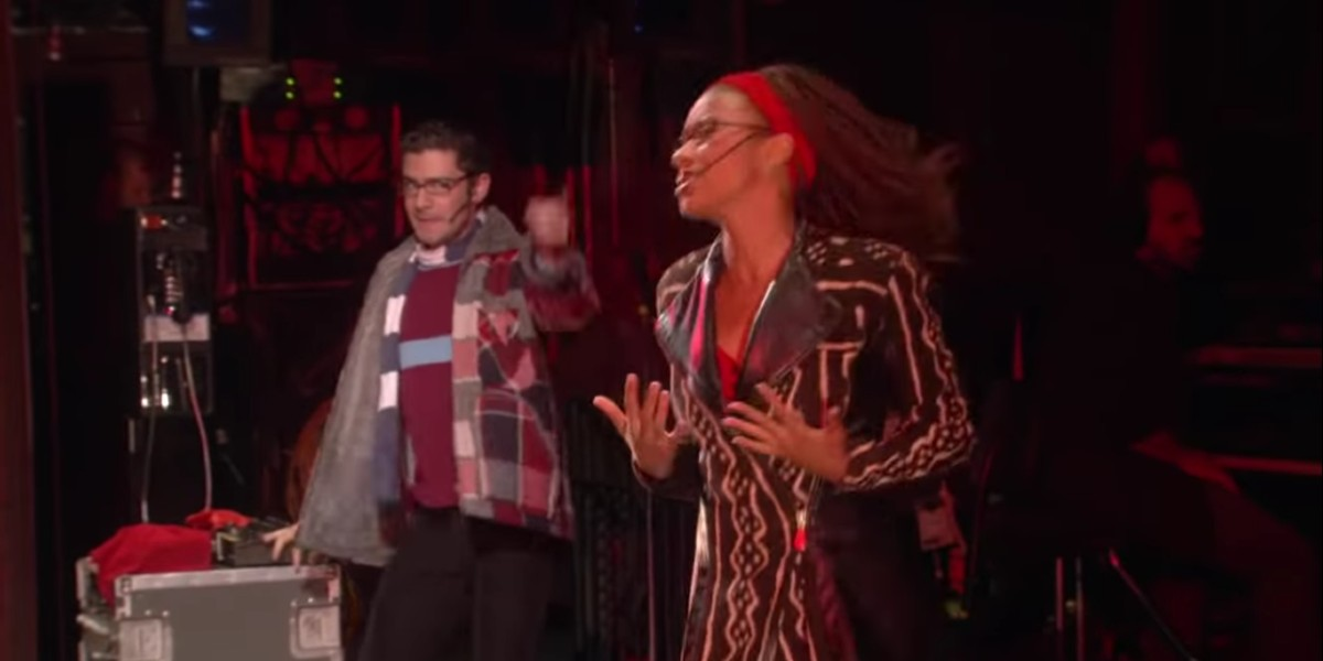Tracie Thoms and Adam Kantor in Rent 2008