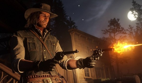 Firing pistols in Red Dead Redemption 2