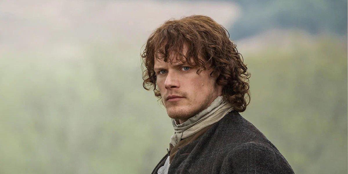 Sam Heughan as Jamie Fraser in Outlander.