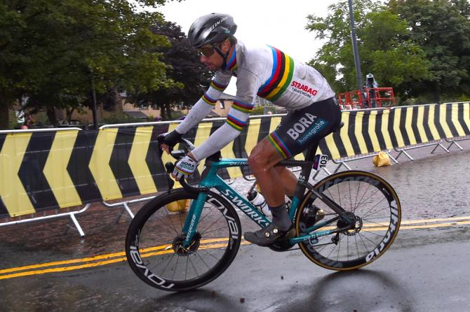Peter Sagan raced the European Championships in his rainbow jersey