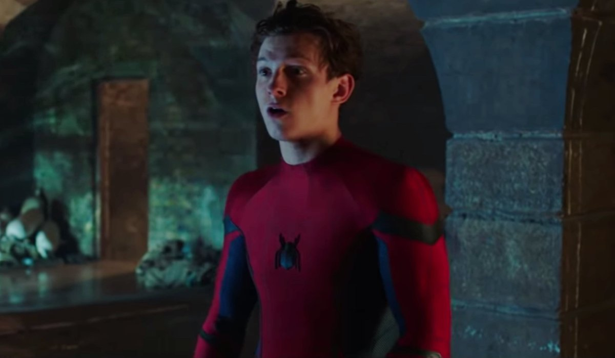 Tom Holland unmasked in the canals of Venice in Spider-Man: Far From Home.
