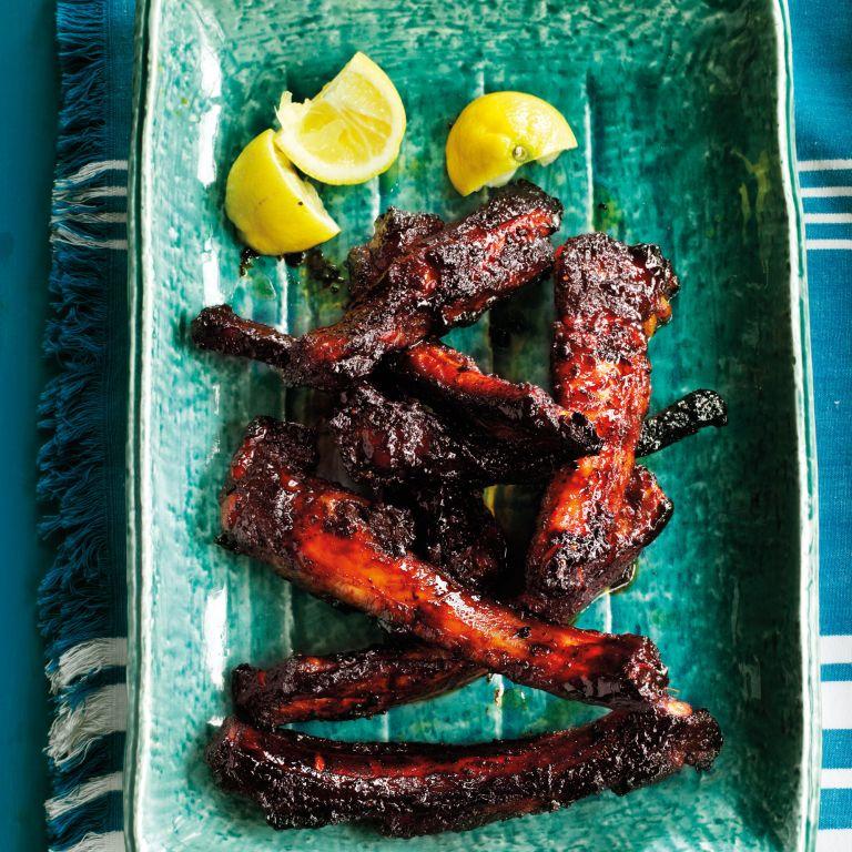 Cajun Ribs-Barbecque-food-woman and home
