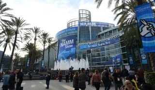 A general view of the entrance of the NAMM Show on January 18, 2019, at the Anaheim Convention Center in Anaheim, California